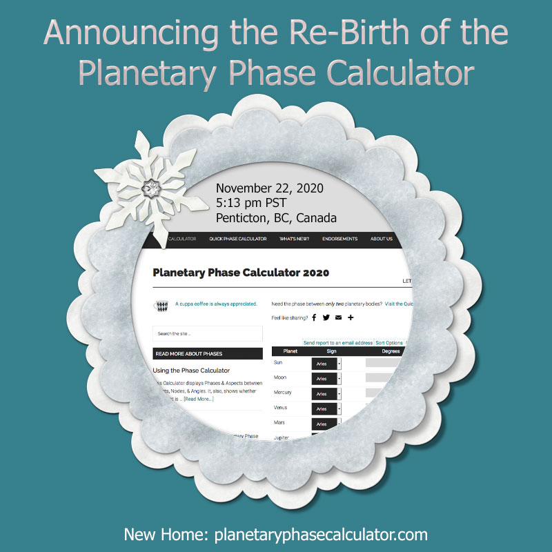 Birth announcement for the Planetary Phase Calculator