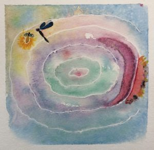 Aura Painting in Watercolor.