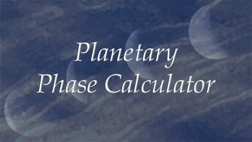 Planetary Phase Calculator - Scorpio Moon Astrology