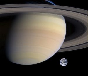 Saturn and Earth. Thank you www.pixabay.com